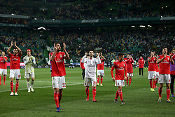 February 3, 2019 - Lisbon, Portugal - Benfica's players celebrates after the Portuguese League football match Sporting CP vs SL Benfica at Alvalade stadium in Lisbon, Portugal on February 3, 2019. (Credit Image: © Pedro Fiuza/NurPhoto via ZUMA Press)