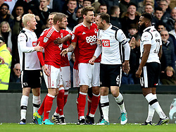 A fracas breaks out between the players of Derby County and Nottingham Forest - Mandatory by-line: Robbie Stephenson/JMP - 11/12/2016 - FOOTBALL - iPro Stadium - Derby, England - Derby County v Nottingham Forest - Sky Bet Championship