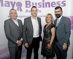 Pictured attending the 2018 Mayo Business Awards, Stephen O&rsquo;Toole, Gabriel Hynes with Eithne and Paul Dixon<br />