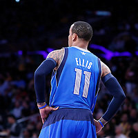04 April 2014: Dallas Mavericks guard Monta Ellis (11) rests during the Dallas Mavericks 107-95 victory over the Los Angeles Lakers at the Staples Center, Los Angeles, California, USA.
