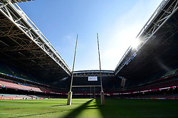 A general view of the Millennium Stadium with the roof open - Mandatory byline: Patrick Khachfe/JMP - 07966 386802 - 01/10/2015 - RUGBY UNION - Millennium Stadium - Cardiff, Wales - Wales v Fiji - Rugby World Cup 2015 Pool A.