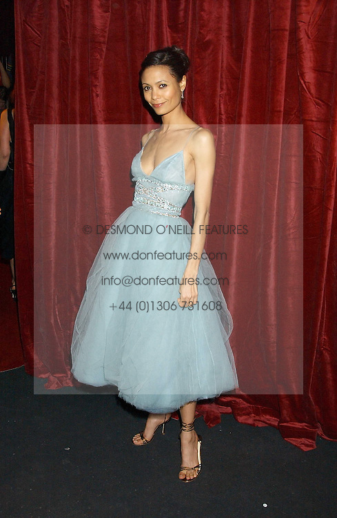 Actress THANDIE NEWTON at a party to celebrate the first issue of British Harper's Bazaar held at Cirque, 10-14 Cranbourne Street, London WC2 on 16th February 2006.<br /><br />NON EXCLUSIVE - WORLD RIGHTS