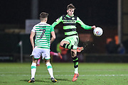 Forest Green Rovers Charlie Cooper(15) clears the ball during the EFL Trophy 3rd round match between Yeovil Town and Forest Green Rovers at Huish Park, Yeovil, England on 9 January 2018. Photo by Shane Healey.