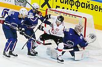 Cristobal Huet / Kevin Romy - 03.05.2015 - France / Suisse - Championnat du Monde de Hockey sur Glace -Prague <br />Photo : Xavier Laine / Icon Sport