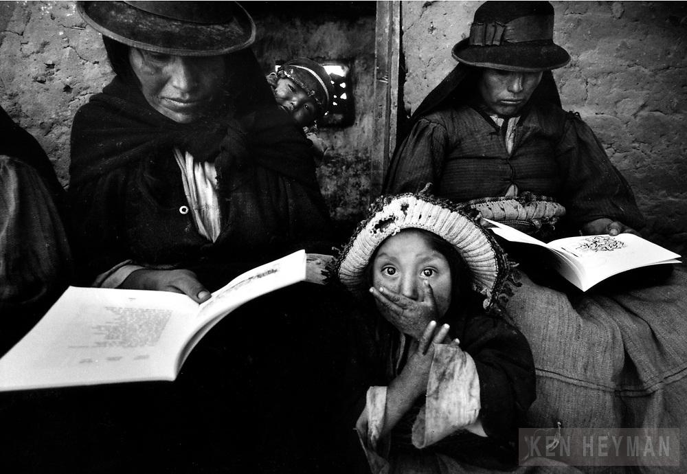 Adult education class in Puno, Peru.