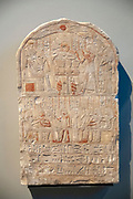 Painted Limestone Stele of Imen-er-hatef New Kingdom, 18th Dynasty, reign of Thumtmose IV, 1419-1410 BC