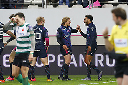 December 8, 2017 - Paris, France, France - Joie de Mcleod (Stade Francais) et Yobo  (Credit Image: © Panoramic via ZUMA Press)