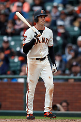 SAN FRANCISCO, CA - MAY 26: Mike Yastrzemski #5 of the San Francisco Giants returns to the dugout after striking out against the Arizona Diamondbacks during the ninth inning at Oracle Park on May 26, 2019 in San Francisco, California. The Arizona Diamondbacks defeated the San Francisco Giants 6-2. (Photo by Jason O. Watson/Getty Images) *** Local Caption *** Mike Yastrzemski