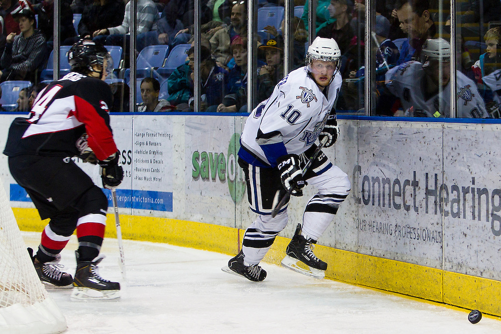 The Victoria Royals host the Prince George Cougars of the WHL Western Hockey League December 27, 2013. The Royals Beat the Cougars 8-2- Kevin Light Photography Victoria Royals vs Prince George Cougars WHL Western Hockey League December 27, 2013 - Kevin Light Photography _V0C0592.JPG