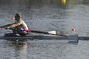 Hazenwinkel, BELGIUM,  Men's Single Scull, Ian LAWSON, in the last strokes of the morning time trial, at the GB Rowing Senior Trials, on Sun,15.04.2007  [Credit, Peter Spurrier/Intersport-images]   [Mandatory Credit, Peter Spurier/ Intersport Images]. , Rowing Course, Bloso, Hazewinkel. BELGUIM