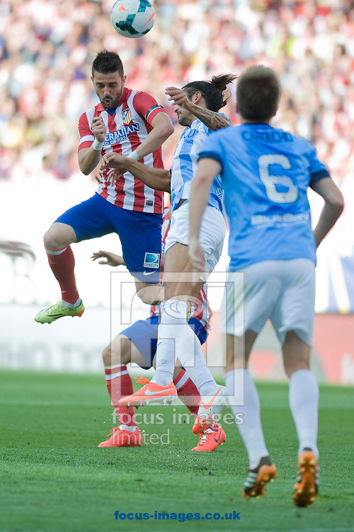 David Villa of Atl&eacute;tico Madrid during the La Liga match at Vicente Calder&oacute;n Stadium, Madrid<br /> Picture by Marcos Calvo Mesa/Focus Images Ltd +34 654142934<br /> 11/05/2014