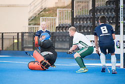 Isca v Canterbury - Men's O40's Cup Final, Lee Valley Hockey & Tennis Centre, London, UK on 29 April 2017. Photo: Simon Parker