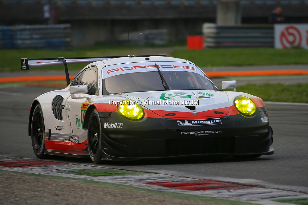 #92, Porsche Motorsport, Porsche 911 RSR (2017), driven by Michael Christensen, Kevin Estre, FIA WEC 2017 Prologue, Autodromo Nazionale Monza, 01/04/2017,