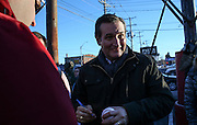 Republican presidential candidate, Sen. Ted Cruz, R-Texas, arrives at a meet and greet at Theo's Pizza and Restaurant in Manchester, N.H. Thursday, Jan. 21, 2016.  CREDIT: Cheryl Senter for The New York Times Ted Cruz