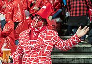 Dansk fan før EM Kvalifikationskampen mellem Danmark og Gibraltar den 15. november 2019 i Telia Parken (Foto: Claus Birch).