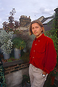 A portrait of Dan Pearson (b 1964), an English garden designer, landscape designer, journalist and television presenter in the summer of 1990 on a London roofttop garden of his own creation, England. He is an expert in naturalistic perennial planting.