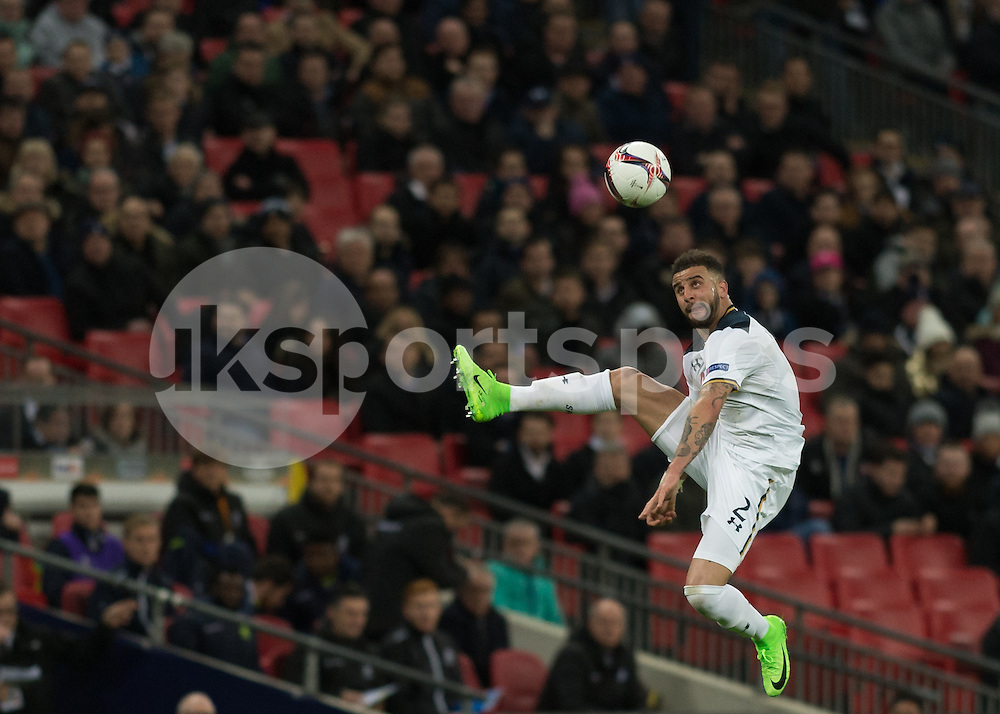 Kyle Walker of Tottenham Hotspur in action during the UEFA Europa League  Round of 32 Game 2 match between Tottenham Hotspur and Gent at Wembley Stadium, London, England on 23 February 2017. Photo by Vince  Mignott.