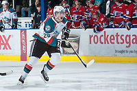 KELOWNA, CANADA - JANUARY 16:  Cole Lilnaker #26 of the Kelowna Rockets skates on the ice against the Spokane Chiefs at the Kelowna Rockets on January 16, 2013 at Prospera Place in Kelowna, British Columbia, Canada (Photo by Marissa Baecker/Shoot the Breeze) *** Local Caption ***