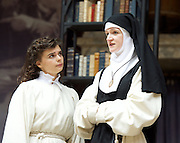 The Heresy of Love <br /> By Helen Edmundson<br /> at Shakespeare's Globe Theatre, London, Great Britain <br /> press photocall <br /> 4th August 2015 <br /> <br /> Directed by<br /> John Dove<br /> <br /> <br /> Gwyneth Keyworth<br /> Angelica<br /> <br /> Naomi Frederick<br /> Sor Juana<br /> <br /> <br /> Photograph by Elliott Franks <br /> Image licensed to Elliott Franks Photography Services