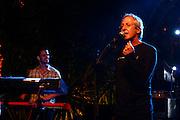 Israeli singer Gidi Gov  is performing in Tel Aviv. April, 23 , 2007.