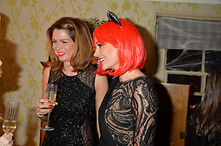 Left to right, GABRIELLA PEACOCK and KIM JOHNSON at the Bumpkin Halloween Dinner hosted by Marissa Hermer held at Bumpkin, 119 Sydney Street, London on 23rd October 2014.