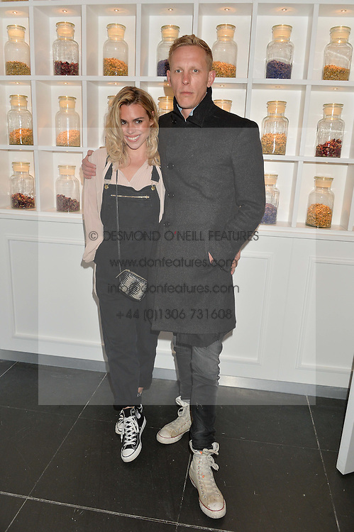 BILLIE PIPER and LAURENCE FOX at the launch of hidden bar 'Blind Spot' at St.Martin's Lane Hotel, St.Martin's Lane, London on 6th May 2015.