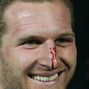 Kieran Read of the All Blacks celebrates after the New Zealand V Australia Tri-Nations, Bledisloe Cup match at Eden Park, Auckland. New Zealand. 6th August 2011. Photo Tim Clayton