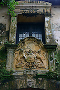 Coat of Arms above an entrance to the Galle Fort. A UNESCO World Heritage Site.