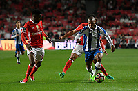 Nelson Semedo 50 BenficaÕs defender from Portugal (L) and Yacine Brahimi 8 PortoÕs midfielder from Algeria (R) in action during in action FOOTBALL : Benfica vs FC Porto - Liga NOS - 01/04/2017<br /> Norway only