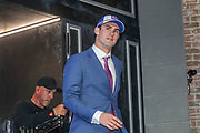 Apr 25, 2019; Nashville, TN, USA; Duke quarterback Daniel Jones after being selected as the No. 6 pick of the first round by the New York Giants during the 2019 NFL Draft. (Kim Hukari/Image of Sport)