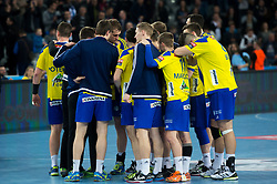 Team RK Celje Pivovarna Lasko after  EHF Champions eague 2016/17 handball match between HC Prvo Plinarsko Drustvo Zagreb and RK Celje Pivovarna Lasko, on March 9th, 2017 in Arena Zagreb, Croatia. Photo by Martin Metelko / Sportida