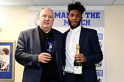 Ellis Harrison of Bristol Rovers with Sponsor - Mandatory by-line: Dougie Allward/JMP - 23/12/2017 - FOOTBALL - Memorial Stadium - Bristol, England - Bristol Rovers v Doncaster Rovers - Skt Bet League One