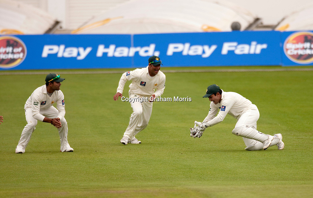 Wicket keeper Kamran Akmal catches Ricky Ponting during the second MCC Spirit of Cricket Test Match between Pakistan and Australia at Headingley, Leeds.  Photo: Graham Morris (Tel: +44(0)20 8969 4192 Email: sales@cricketpix.com) 23/07/10