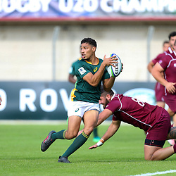 Gianni Lombard of South Africa during the U20 World Championship match between South Africa and Georgia on May 30, 2018 in Perpignan, France. (Photo by Manuel Blondeau/Icon Sport)