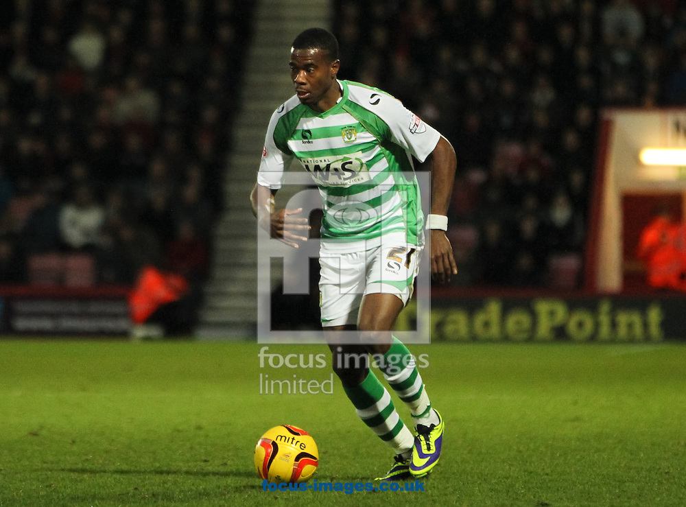 Picture by Tom Smith/Focus Images Ltd 07545141164<br /> 26/12/2013<br /> Liam Davis of Yeovil Town during the Sky Bet Championship match at the Goldsands Stadium, Bournemouth.