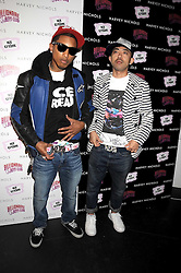 Left to right, PHARRELL WILLIAMS and designer NIGO at a party to celebrate the launch of Billionaire Boys Club Ice Cream Season 7 at Harvey Nichols, Knightsbridge, London on 18th June 2008.<br />