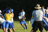 Water Valley football practice in Water Valley, Miss. on Wednesday, July 28, 2010.