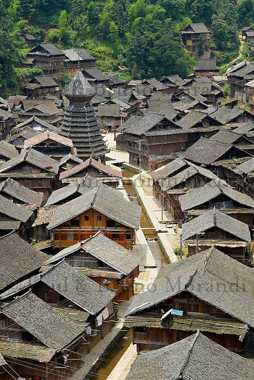 Chine. Province du Guizhou. Village Dong de Yingtan. // China. Guizhou province. Dong village of Yingtan.