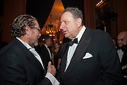 JULIAN SCHNABEL; JEAN PIGOZZI, The Global launch of the 2012 Pirelli Calendar by Mario Sorrenti.  Dinner at the Park Avenue Armory. Manhattan. 6 December 2011.