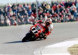 TROY CORSER AUSTRALIA DUCATI  SUPERBIKE, World Superbikes Round 2 Championship Donington Park 13th April 1998wsb  13/4/98
