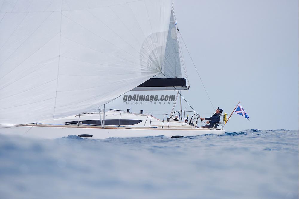April 2015, Plama de Malorca, Spain, Maxi 1200 designed by Pelle Petterson build be Delphia Yachts sailing in the bay of Palma