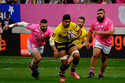 April 7, 2018 - Paris, France - Clermont Flanker FRITZ LEE in action during the French rugby championship Top 14 match between Stade Francais and Clermont at Jean Bouin Stadium in Paris - France..Stade Francais won 50-13 (Credit Image: © Pierre Stevenin via ZUMA Wire)