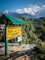 Stunning views of the Annapurnas from Ghandruk Guest House, Nepal.