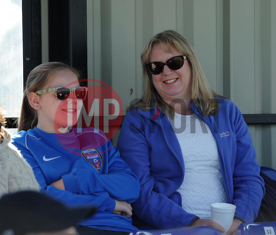 Supporters at Stoke Gifford Stadium for Bristol Academy Women vs Sunderland AFC Ladies - Mandatory by-line: Paul Knight/JMP - 25/07/2015 - SPORT - FOOTBALL - Bristol, England - Stoke Gifford Stadium - Bristol Academy Women v Sunderland AFC Ladies - FA Women's Super League