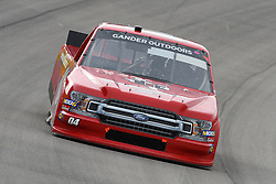 March 1, 2019 - Las Vegas, NV, U.S. - LAS VEGAS, NV - MARCH 01: Cory Roper (04) Roper Racing Ford F-Series drives through turn two during qualifying for NASCAR Gander Outdoors Truck Series The Strat 200 on March 1, 2019, at Las Vegas Motor Speedway in Las Vegas, Nevada. (Photo by Michael Allio/Icon Sportswire) (Credit Image: © Michael Allio/Icon SMI via ZUMA Press)