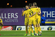GOAL Jamie Mackie celebrates scoring 1-0 during the EFL Sky Bet League 1 match between Oxford United and Rochdale at the Kassam Stadium, Oxford, England on 27 November 2018.