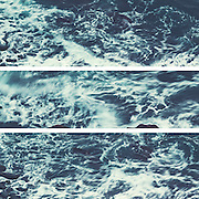 Tryptych of saltwarer waves in motion - Atlantic Ocean<br />