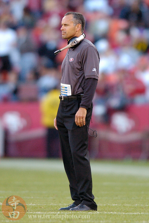 Nov 5, 2006 San Francisco, CA, USA: San Francisco 49ers head coach Mike Nolan during the second half against the Minnesota Vikings at Monster Park. The 49ers defeated the Vikings 9-3.