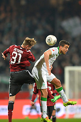 08.03.2014, easyCredit Stadion, Nuernberg, GER, 1. FBL, 1. FC Nuernberg vs SV Werder Bremen, 24. Runde, im Bild Ondrej Petrak (1 FC Nuernberg / links) im Kopfballduell mit Franco Di Santo (Werder Bremen / rechts) Kopfball, Duell, Zweikampf, Action / Aktion // during the German Bundesliga 24th round match between 1. FC Nuernberg and SV Werder Bremen at the easyCredit Stadion in Nuernberg, Germany on 2014/03/08. EXPA Pictures © 2014, PhotoCredit: EXPA/ Eibner-Pressefoto/ Merz<br /> <br /> *****ATTENTION - OUT of GER*****