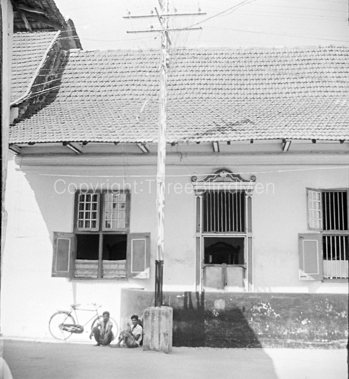India. House near the synagogue on Cochin or Kochi.